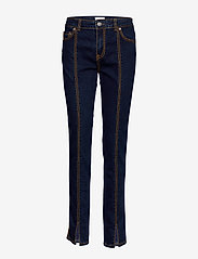 Ganni - Light Stretch Denim - wąskie dżinsy - dark indigo - 0