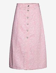 Ganni - Print Denim - midi nederdele - cherry blossom - 0