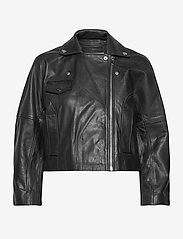 Ganni - Light Grain Leather - nahkatakit - black - 1