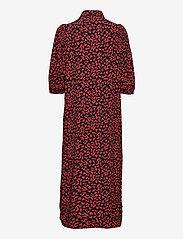 Ganni - Printed Crepe - everyday dresses - black - 1