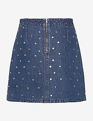 Ganni - Stud Denim - jeansowe spódnice - denim - 1