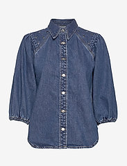 Ganni - Stud Denim - jeansblouses - denim - 0