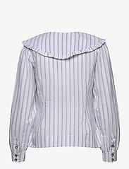 Ganni - Feathery Cotton - långärmade blusar - heather - 1
