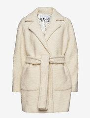 Ganni - Boucle Wool - wool jackets - egret - 0