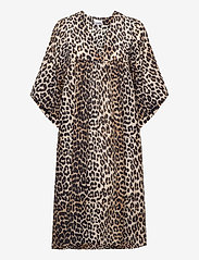 Ganni - Cotton Silk - midi kjoler - leopard - 0