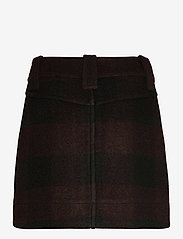 Ganni - Double Wool - korte nederdele - black - 1