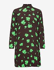Ganni - Printed Crepe - summer dresses - mole - 0