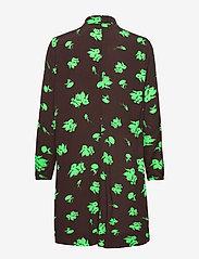 Ganni - Printed Crepe - summer dresses - mole - 1