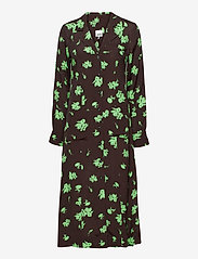 Ganni - Printed Crepe - alledaagse jurken - mole - 1