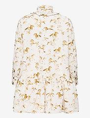Ganni - Printed Cotton Poplin - summer dresses - cognac - 1