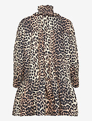 Ganni - Printed Cotton Poplin - sommerkjoler - leopard - 1