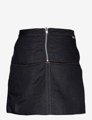 Ganni - Raw Padded Denim - jeansröcke - indigo - 1