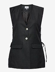 Ganni - Wool Suiting - knitted vests - phantom - 0