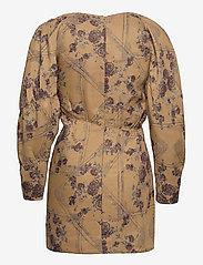 Ganni - Brocade Jacquard - summer dresses - tiger's eye - 2