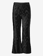 Ganni - Pleated Satin - tøj - black - 0