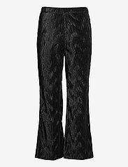 Ganni - Pleated Satin - tøj - black - 1