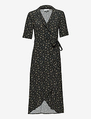 Ganni - Wrap Dress - sommerkjoler - black - 0
