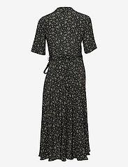 Ganni - Wrap Dress - sommerkjoler - black - 1