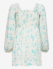Ganni - Printed Crepe - summer dresses - egret - 1
