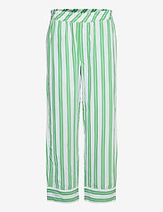 Ganni - Stripe Cotton - casual bukser - kelly green - 0