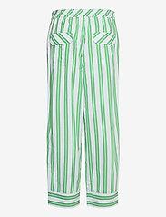 Ganni - Stripe Cotton - casual bukser - kelly green - 1