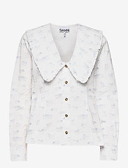 Printed Cotton Poplin - BRIGHT WHITE