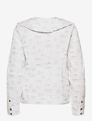 Ganni - Printed Cotton Poplin - langærmede bluser - bright white - 2
