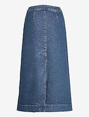 Ganni - Midi Skirt - denimnederdele - medium indigo - 1