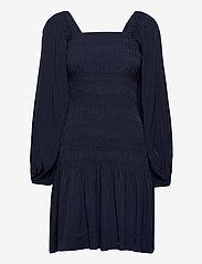 Ganni - Smock Mini Dress - festkjoler - sky captain - 0