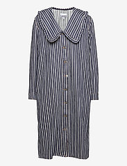 Ganni - Loose Fit Shirt Dress - midi dresses - dark indigo - 0