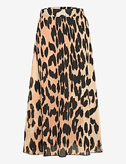 Pleated Georgette - MAXI LEOPARD