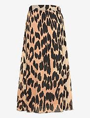 Ganni - Pleated Georgette - midi nederdele - maxi leopard - 1