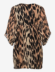 Ganni - Pleated Georgette - party dresses - maxi leopard - 1