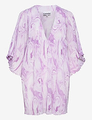 Pleated Georgette - ORCHID BLOOM