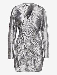 Ganni - Shiny Jacquard - bodycon dresses - sharkskin - 0