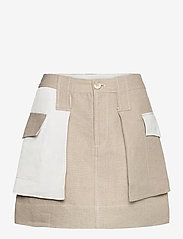 Ganni - Linen - korte nederdele - nature - 0