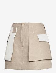 Ganni - Linen - korte nederdele - nature - 1