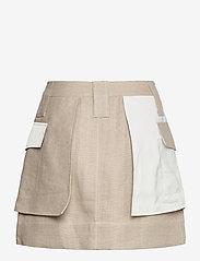 Ganni - Linen - korte nederdele - nature - 2