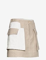 Ganni - Linen - korte nederdele - nature - 3