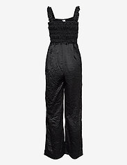 Ganni - Crinkled Satin - tøj - black - 1