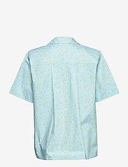 Ganni - Printed Cotton Poplin - denim shirts - corydalis blue - 1