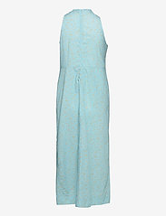 Ganni - Printed Cotton Poplin - sommerkjoler - corydalis blue - 1