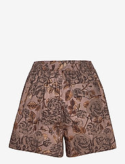 Ganni - Printed Cotton Poplin - casual shorts - fossil - 1