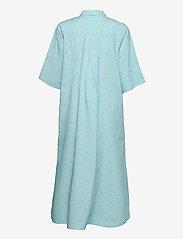 Ganni - Printed Cotton Poplin - skjortekjoler - corydalis blue - 1
