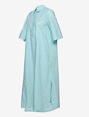 Ganni - Printed Cotton Poplin - skjortekjoler - corydalis blue - 3