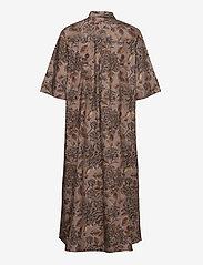 Ganni - Printed Cotton Poplin - skjortekjoler - fossil - 1