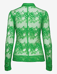 Ganni - Lace - long-sleeved shirts - kelly green - 1