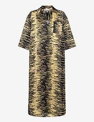 Ganni - Crinkled Satin - summer dresses - pale banana - 0