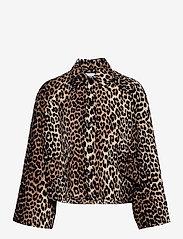 Ganni - Linen Canvas - lette jakker - leopard - 0