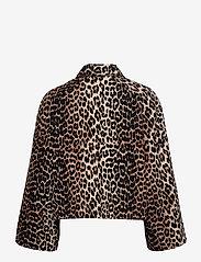 Ganni - Linen Canvas - lette jakker - leopard - 1
